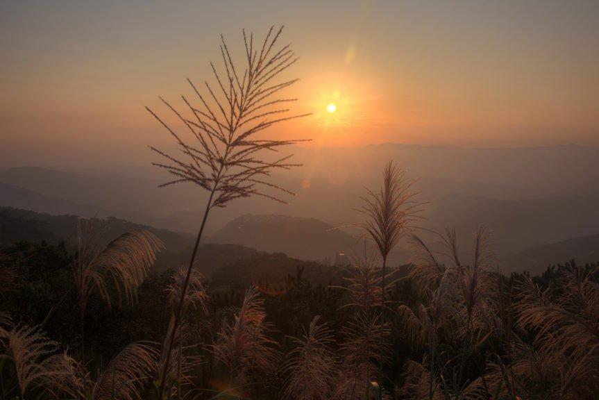 тусклое солнце на горизонте
