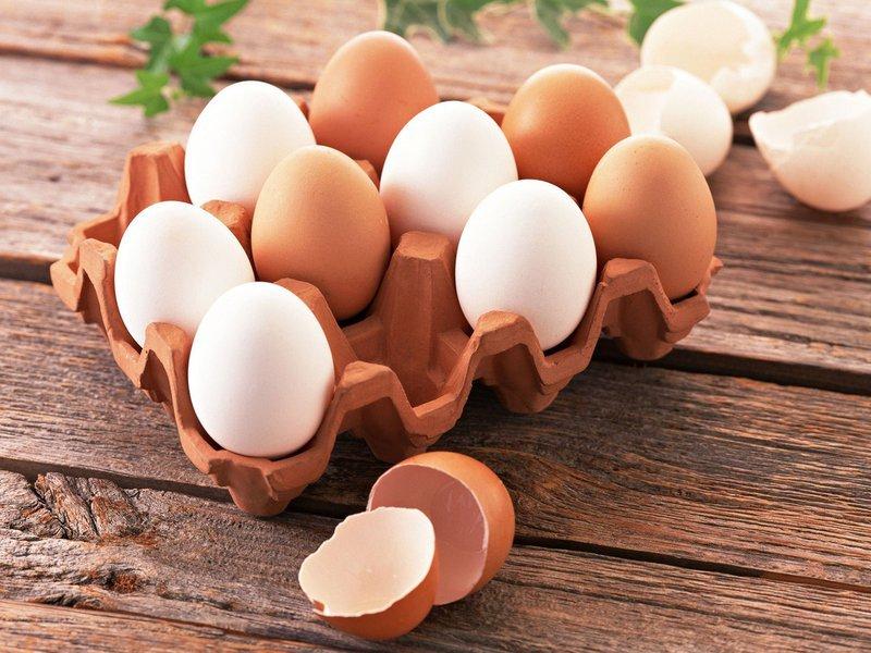 куриные яйца темные и светлые