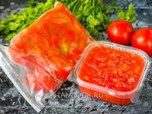 замарозка помидоров на зиму