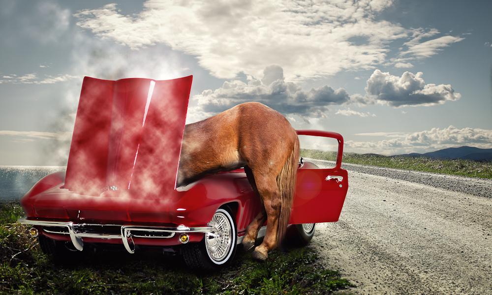 мощность двигателя считается именно в лошадях