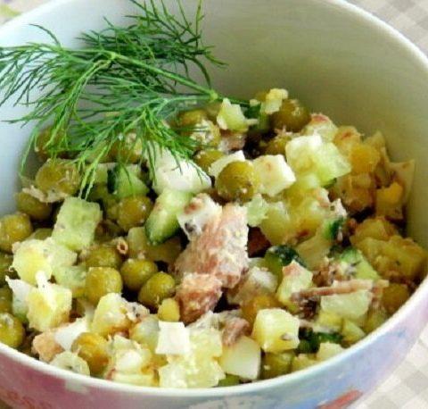 Рецепт забытого рыбного салата